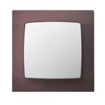 Łącznik jednobiegunowy ŁP-1S/00 ramka w kolorze burgundowym seria Karo OSPEL