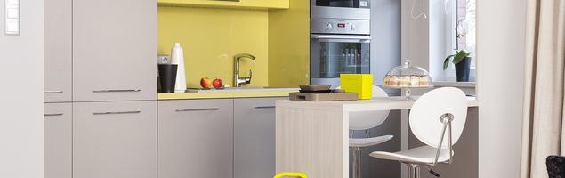 Szara kuchnia. Minimalistyczne wnętrza