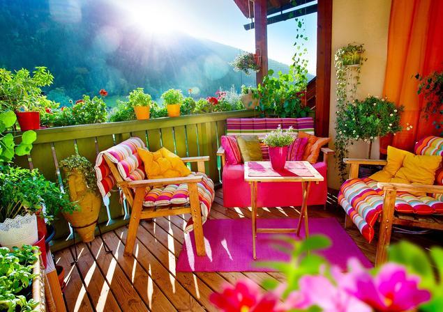 Aranżacja balkonu. Piękny taras