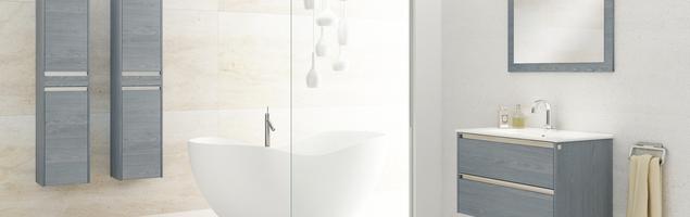 Kompaktowe meble łazienkowe. Intrygujące FONTE