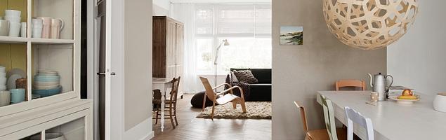 Jasne kolory ścian w wystroju wnętrza w stylu skandynawskim