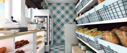 Projekt aranżacji piekarni i ciastkarni