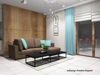 Aranżacja jasnego salonu w stylu minimalistycznym