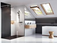 Biało-czarna łazienka – dekory ścienne Ceramstic